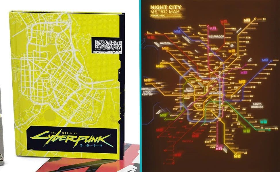 Mapa de Cyberpunk 2077 foi revelado