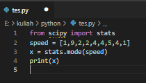 Machine Learning Dasar : Mean, Median, Modus pada Python