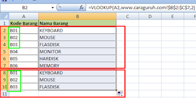 Cara Mengatasi Hasil Error  #N/A di Excel 2007