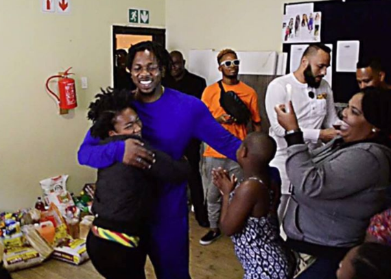 Image result for Runtown donates gifts to female orphanage