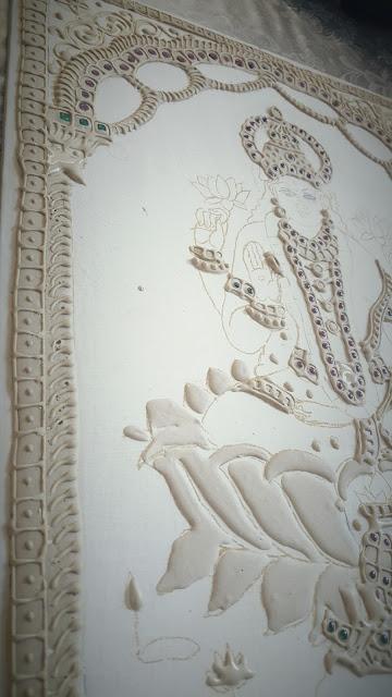 Muck board Tanjore painting Dhanalakshmi