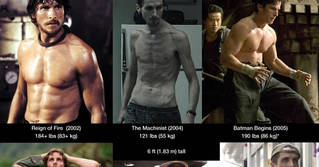 Bicycling For Weight Loss >> Cardio Trek - Toronto Personal Trainer: Christian Bale's Muscle Gains and Weight Losses