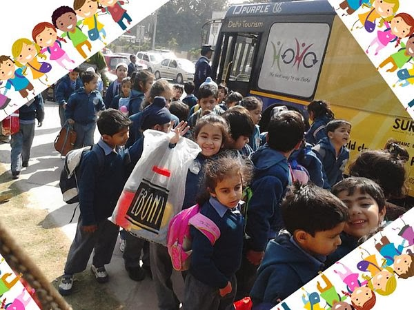 Delhi School Group Tours by HOHO Bus
