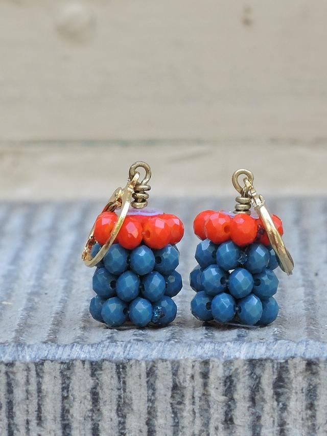 DIY oorbellen/earrings 'stripes'