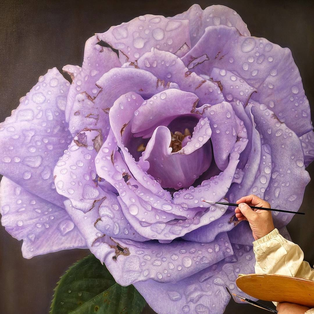 09-Gioacchino-Passini-Realistic-Paintings-of-Flowers-and-Roses-www-designstack-co