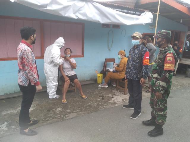 Disiantar Marimbun, Personel Jajaran Kodim 0207/Simalungun Monitor Pelaksanaan Sweb Kepada Masyarakat