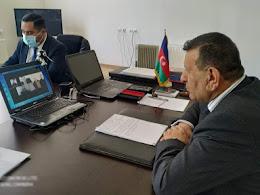Xocalı rayon İcra Hakimiyyətinin başçısı Şahmar Usubov İƏD üzrə nümayəndələrlə videokonfrans keçirdi