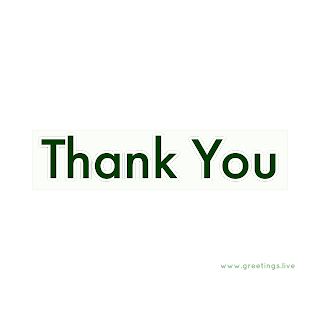 Thankyou greetings in light green shades