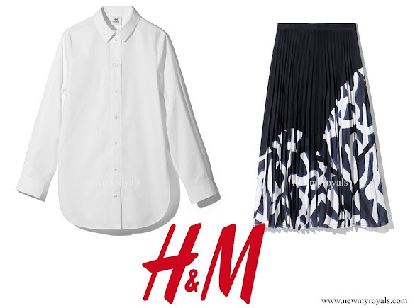 Crown Princess Victoria wore H&M Blouse and Skirt - Studio AW 2017 Collection