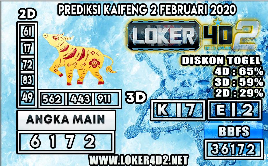 PREDIKSI TOGEL KAIFENG LOKER4D2 02 FEBRUARI 2020