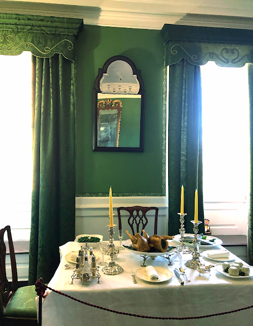 Formal dinner set up at the William Paca House in Annapolis, Maryland