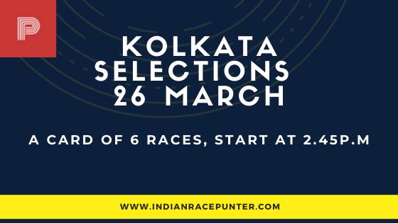 Kolkata Race Selections 26 March