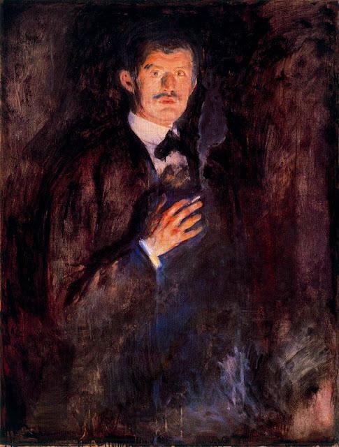 Эдвард Мунк - Автопортрет с зажженной сигаретой. 1895