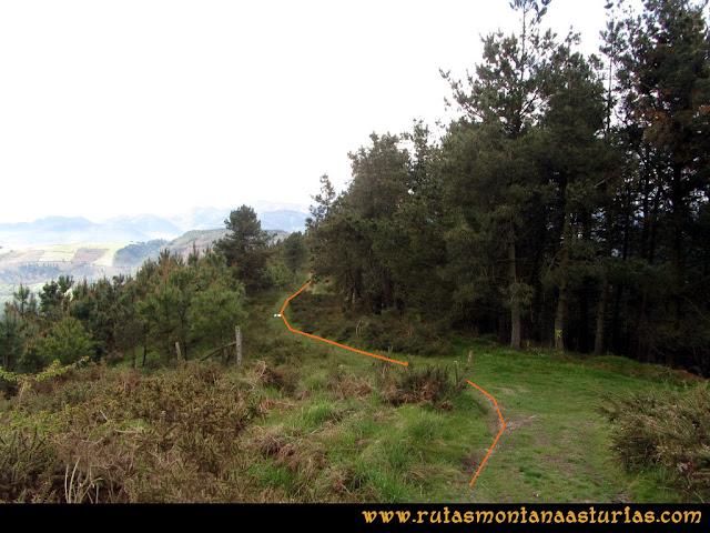 Ruta Torazo, Pico Incos: Sendero por la arista del Incos