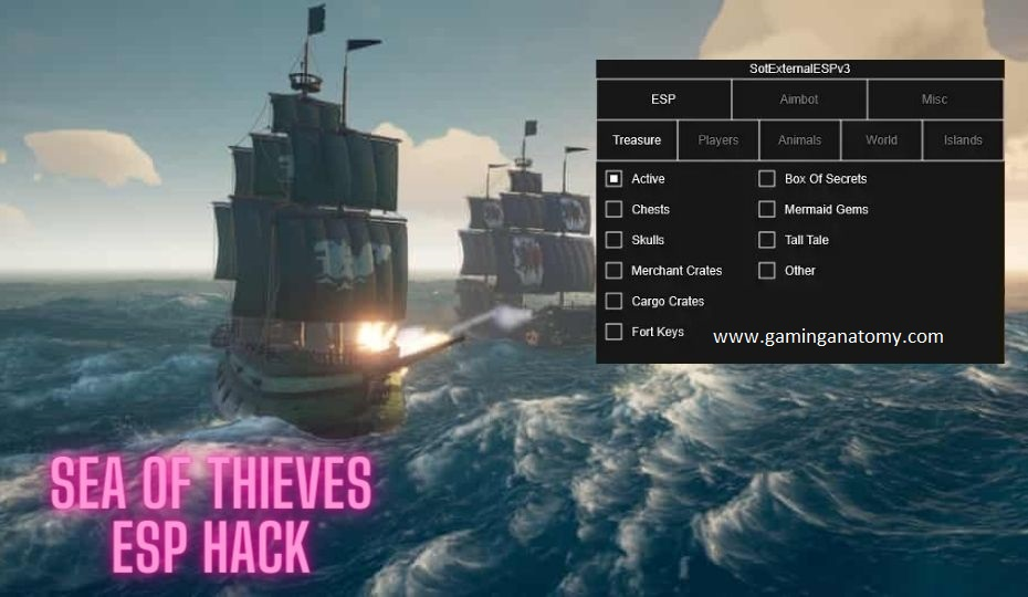 Sea of Thieves hacks, Esp, Aimbot, Mod menu, All Esp modes, Antiban