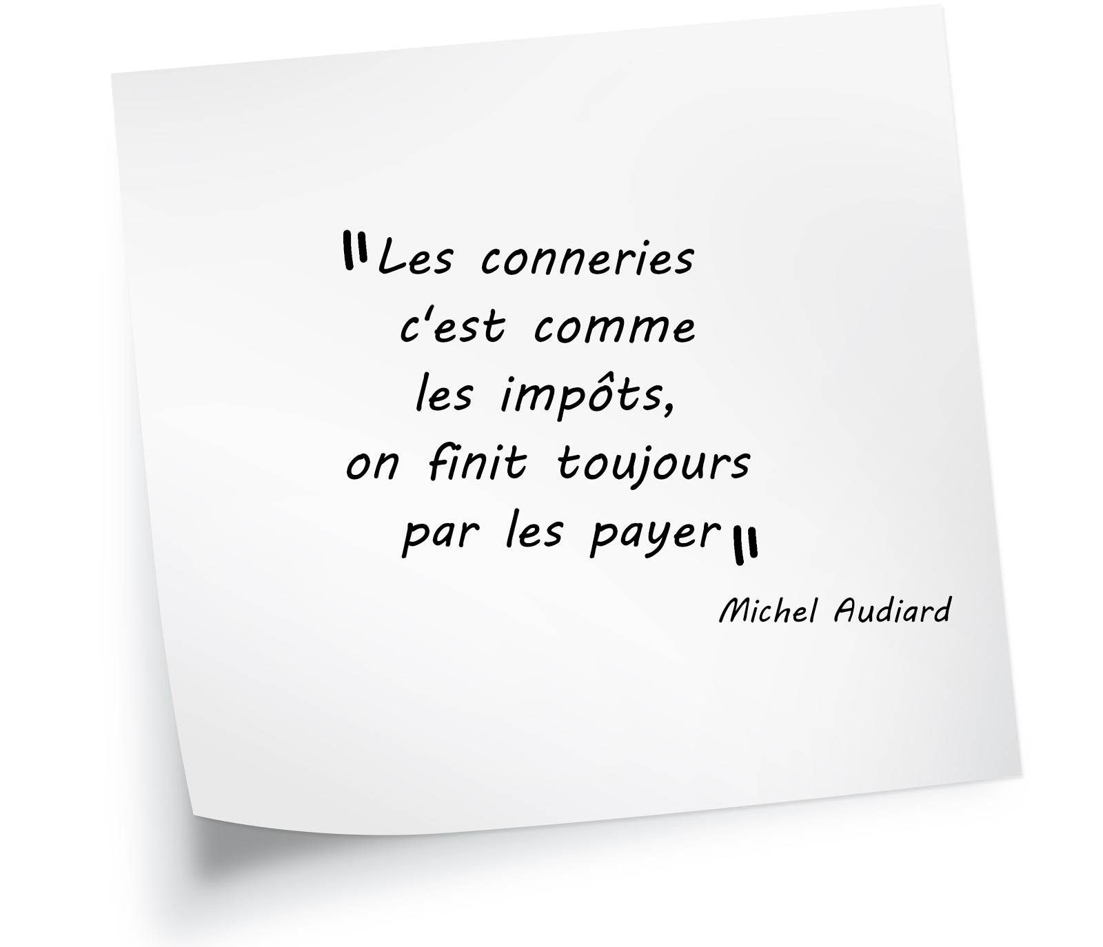 Les conneries citation