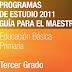 PLAN Y PROGRAMAS DE ESTUDIO 2011 3° PRIMARIA