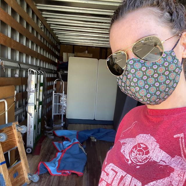 organic mattress on moving day