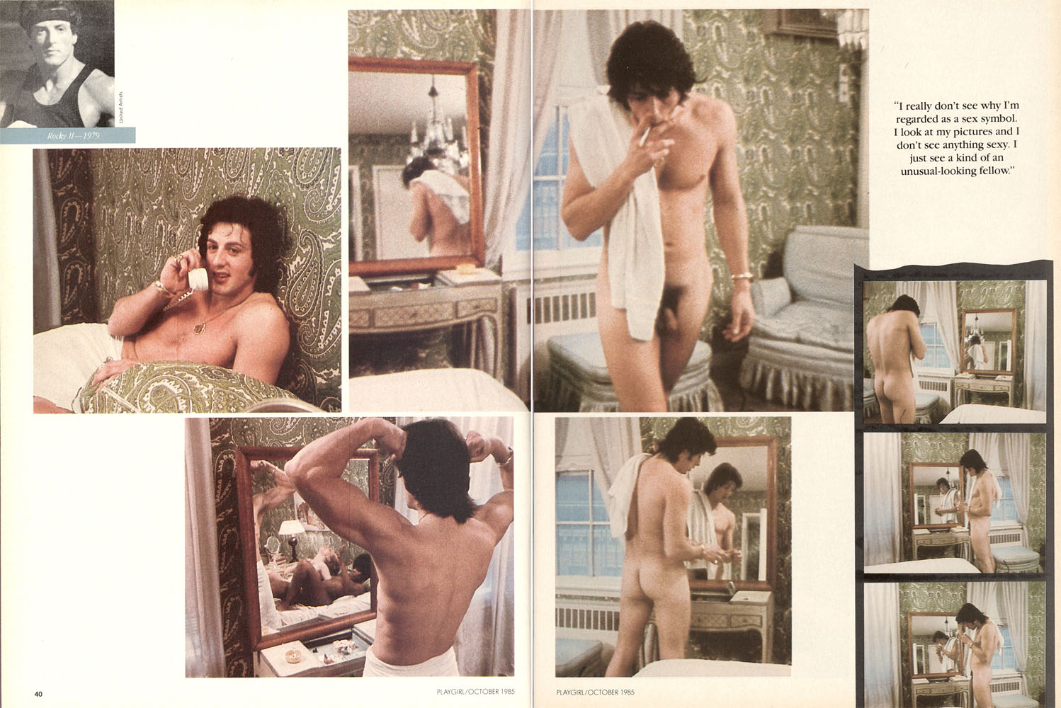 from Willie sylvester stallone nude video