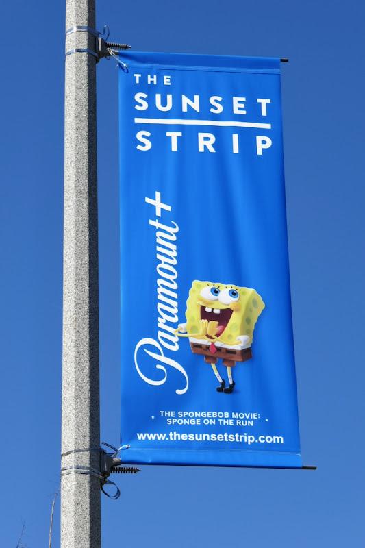 SpongeBob Paramount plus Sunset Strip lamppost ad
