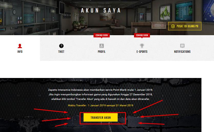 Cara Transfer Akun Point Blank Garena Ke Zepetto Warnetgea Com Online Gaming Browsing