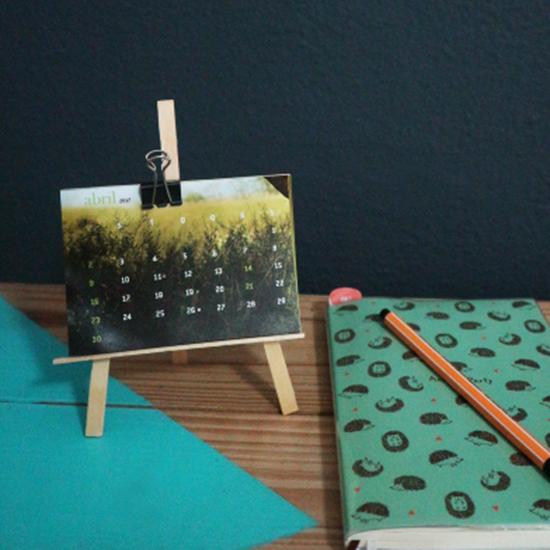 calendario, mini calendario, calendario de mesa, faça você mesmo, diy, artesanato, craft, a casa eh sua