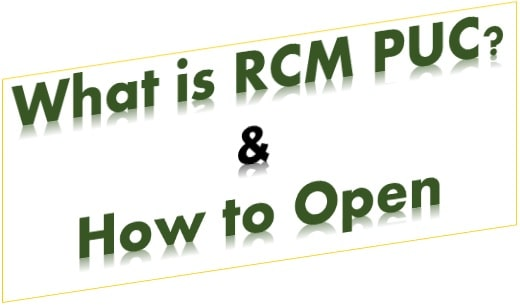 What is RCM PUC & How to Open? Everything You Need to Know