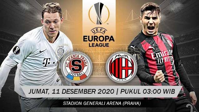 Prediksi Sparta Praha Vs AC Milan, Jumat 11 Desember 2020 Pukul 03.00 WIB @ SCTV