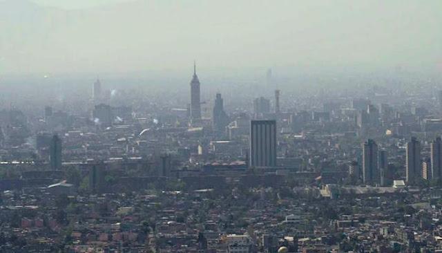 Altos los niveles de contaminación en el Valle de México