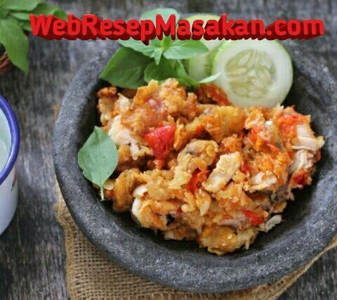 Ayam Geprek, Resep ayam geprek,