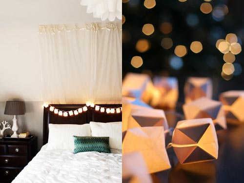 Paper Cube String Lights