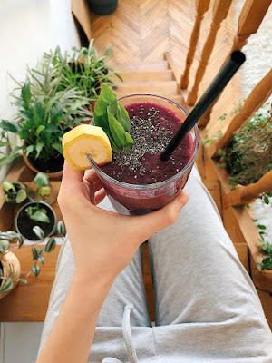 Person Drinking Smoothie