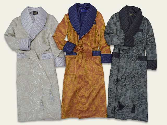 mens luxury silk dressing gowns smoking jackets vintage housecoat silk cotton paisley quilted
