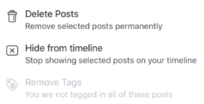 Delete All Facebook Posts<br/>