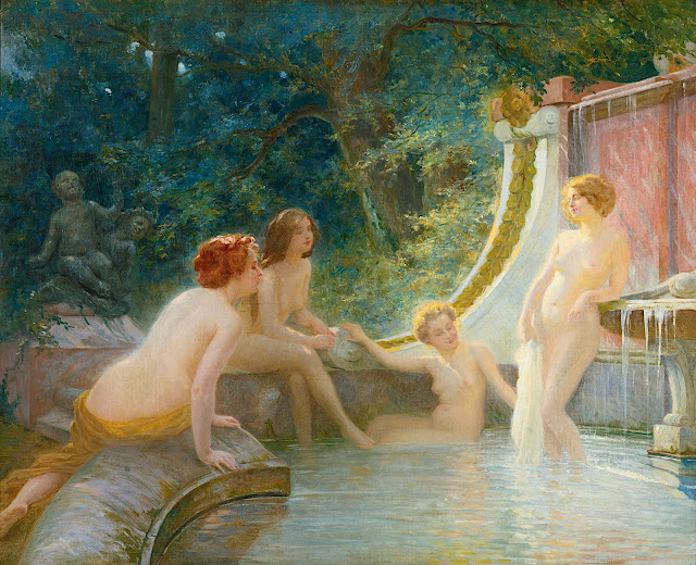 Albert Fourié: Giovani bagnanti in una fontana