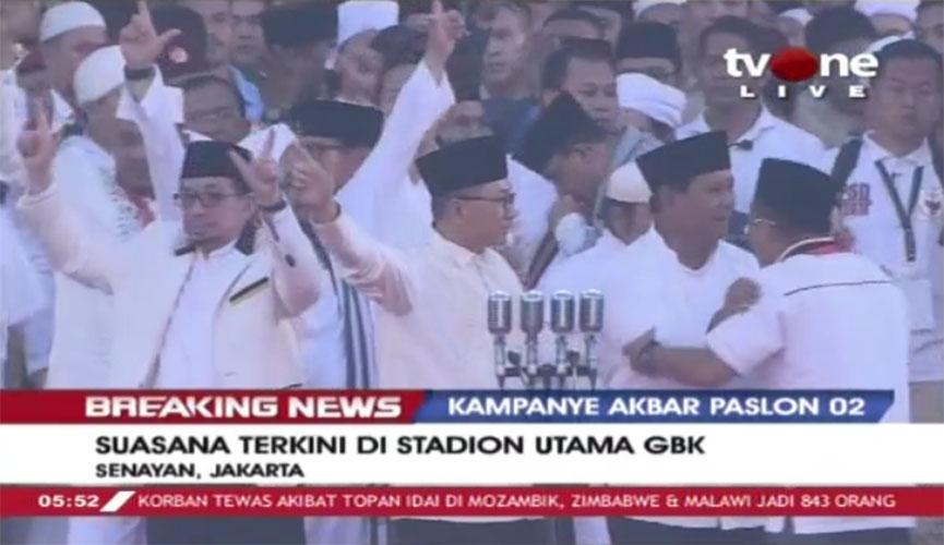 Prabowo bersama pimpinan partai koalisi