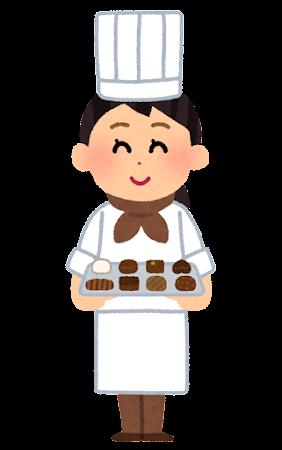 チョコレート屋さんのイラスト(女性)