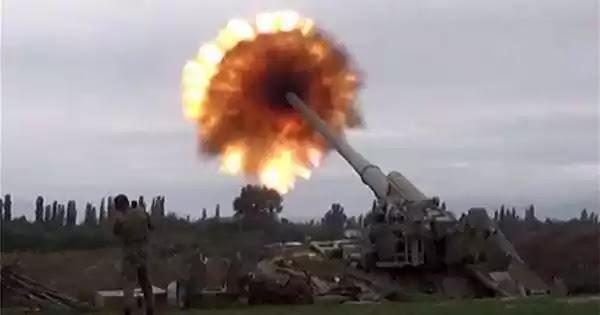 Βίντεο ντοκουμέντο: Οι Αζέροι βομβαρδίζουν αρμενικές πόλεις