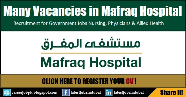 Mafraq Hospital Abu Dhabi Careers and Jobs
