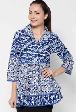 Contoh baju batik atasan