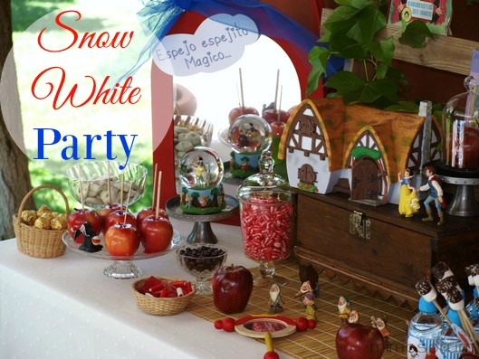 Fiesta de Cumpleaños de Blancanieves. Snow white party ideas.