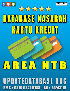 Jual Database Nasabah Kartu Kredit NTB