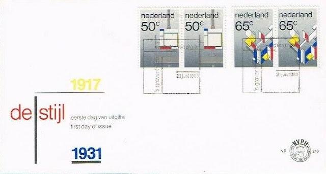 Netherlands De Stijl Mondriaan FDC