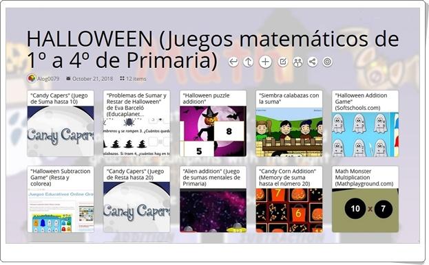 """""""12 Juegos de Matemáticas sobre HALLOWEEN de 1º a 4º de Primaria"""""""