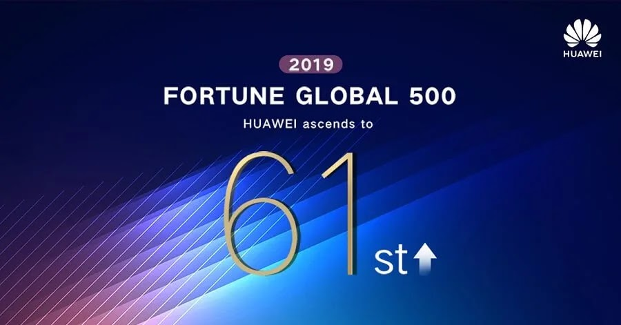 Huawei Claims 61st Spot In Latest Fortune 500 List