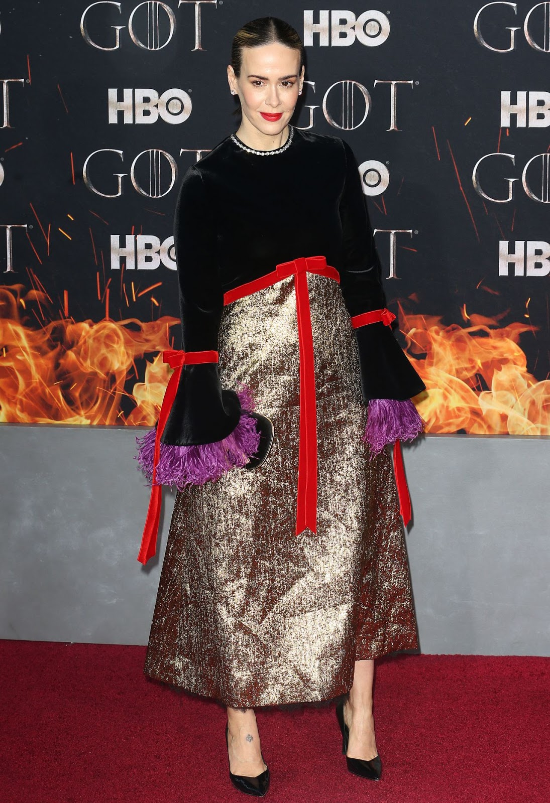 Sarah Paulson goes glam at the Game of Thrones Season 8 NY Premiere