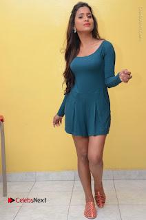 Telugu Actress Prasanthi Stills in Green Short Dress at Swachh Hyderabad Cricket Press Meet  0108.JPG