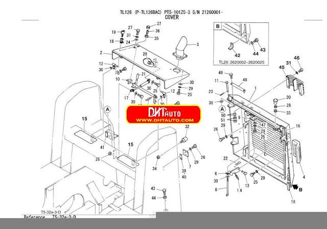 En.Oto-hui.com: Takeuchi Excavator TL126 Parts Manual