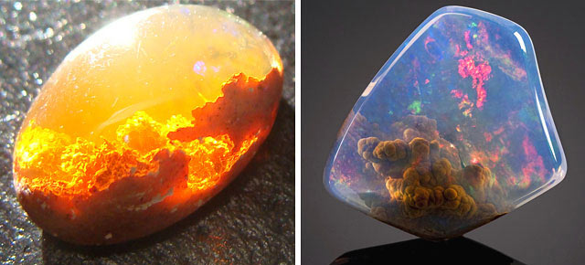 25 Magníficos minerales y piedras con ocultos cielos, océanos y galaxias en su interior
