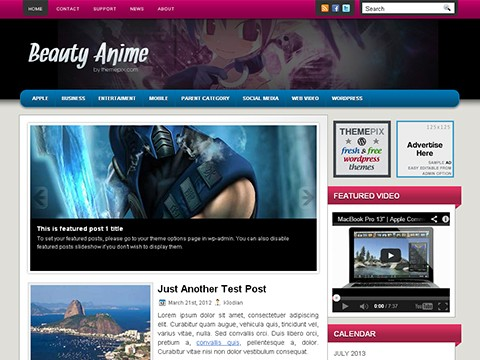 Beauty Anime Wordpress Themes